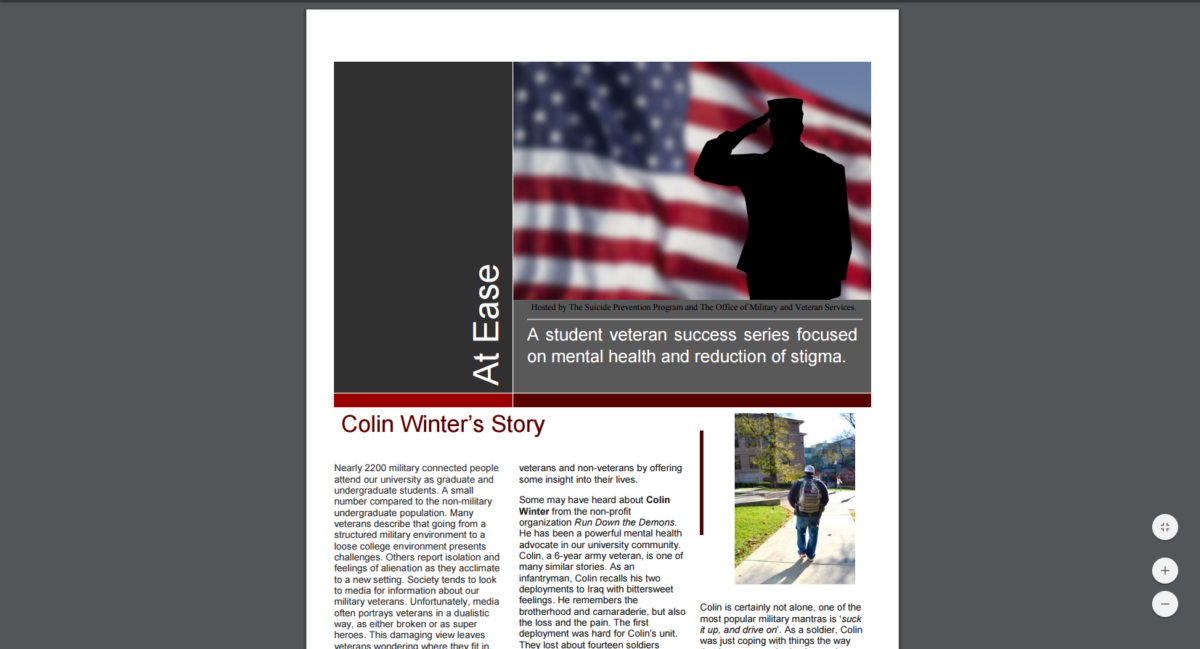 New resource featuring the student veteran community at Ohio State!